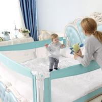Baby Bed Playpen Safety Gate Protection For Child Heighten Crib Rails Guard Pure Steel Vertical Lift Bed Fence