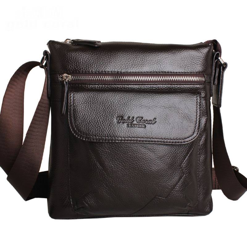 Cow Genuine Leather Messenger Bags Men Casual Travel Business Crossbody Shoulder Bag for Man Sacoche Homme Bolsa Masculina A-607