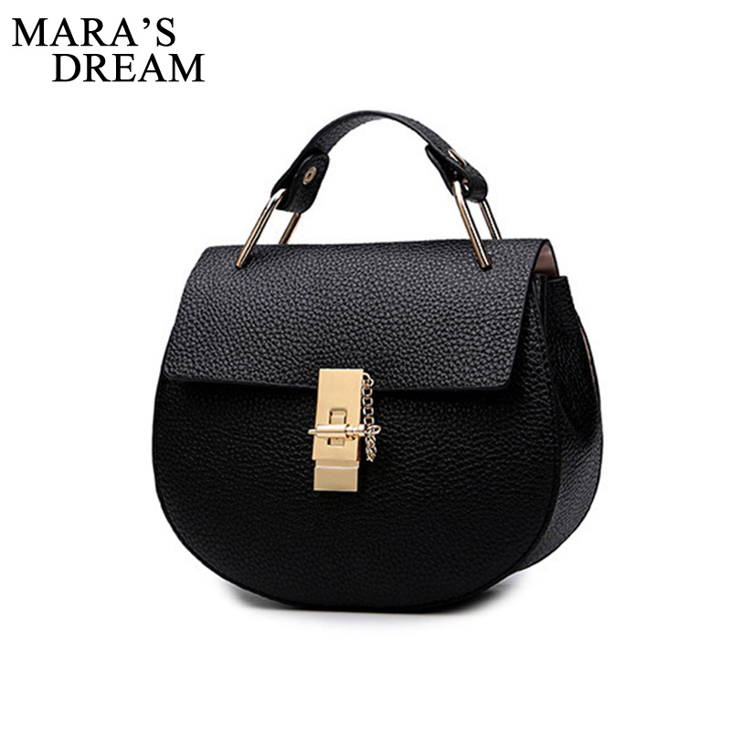 Messenger-Bag Small-Bags Patchwork Mara's-Dream Women's Handbag Chain PU Hasp Spring