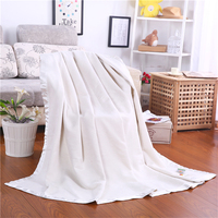Luxury Pure Mulberry Silk Blanket Natural silk quilt Upscale cozy bed sheet Silk Throws 100% Grade A Mulberry Silk White Red