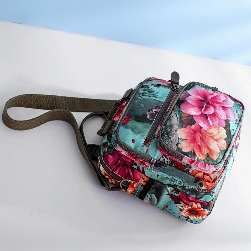 Backpacks Woman 2019 Pink New Multifunction Rose Flowerbackpacks Harajuku Style For Women Waterproof Nylon Backpacks  Mother Bag #3