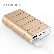ARUN F1 Energy Financial institution USB Quick Charger Exterior Battery Transportable Cellular Telephone Charger For Samsung OPPO Huawei Xiaomi Iphone