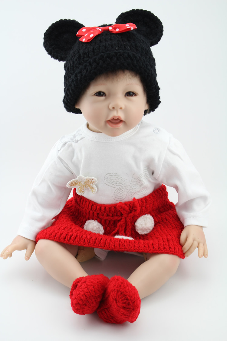 22inch Lifelike Simulation Reborn NewbornBaby Fashion Doll Silicone Vinyl RealSoft GentleTouch For Children Play House Toys