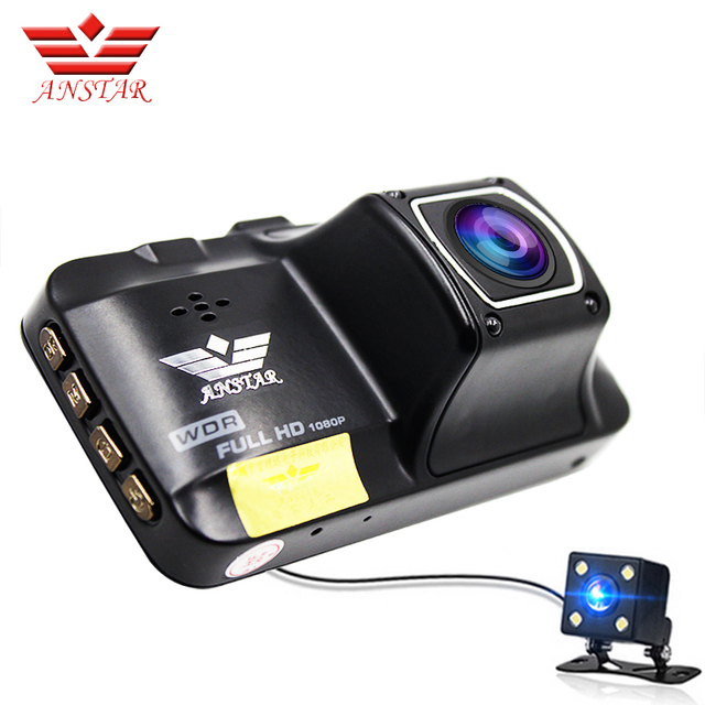 ANSTAR Full HD 1080P Mini CAR DVR 3-inch Screen Lens Dual Camera Auto Video Recorder Car Camera Dash Cam Parking Assistance