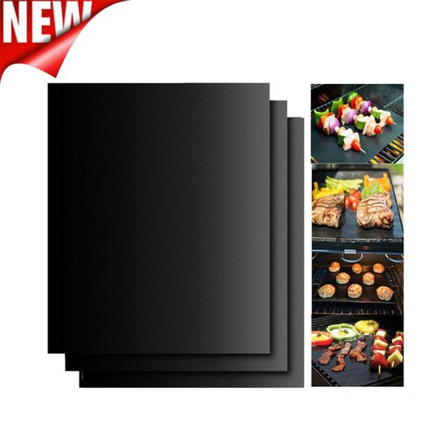 Non-Stick BBQ Magic Grill Mat Perfect for Baking on Gas Heat Resistant For use in oven and microwave