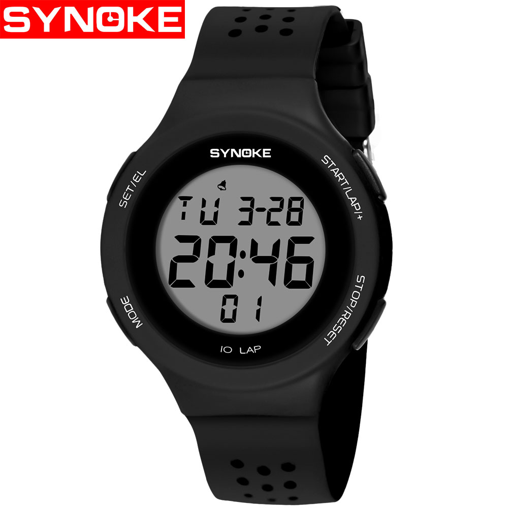 SYNOKE Ultra-thin LED Swimming Waterproof Digital Watch Porous Breathable Fashion Sports Student Couple 67866 transport phenomena in porous media iii