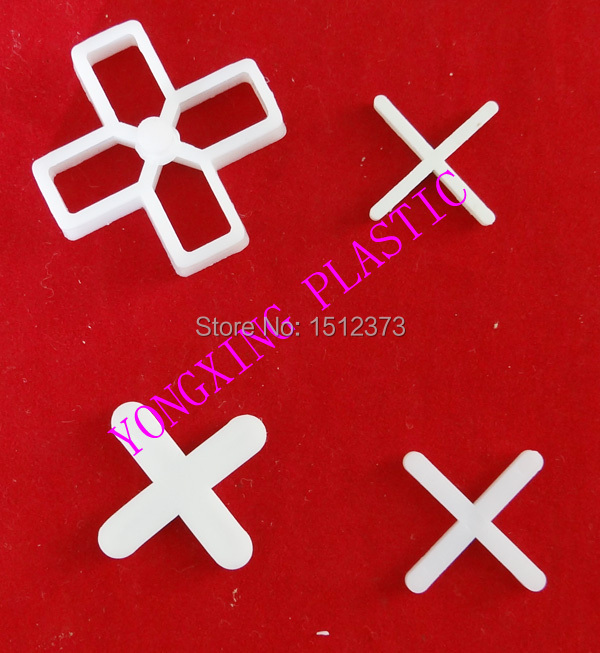 100pcs/bag 3mm Plastic Cross/ Tice Spacer/tracker/locating/ceramic Cross With Handle White Color Locate The Ceramic Tile