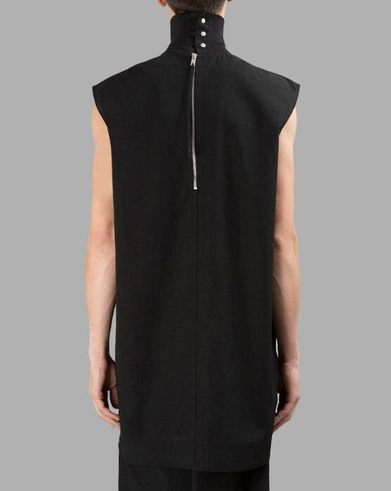 b52a7858c922bc S 4XL HOT 2019 Men Women New Fashion Head After The Vest Zipper Turtleneck  Vest-in Tank Tops from Men s Clothing on Aliexpress.com