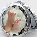 Fotos personalizado ronda espejo compacto del partido de la boda publicidad regalo de la imagen #M023S 200X / lot