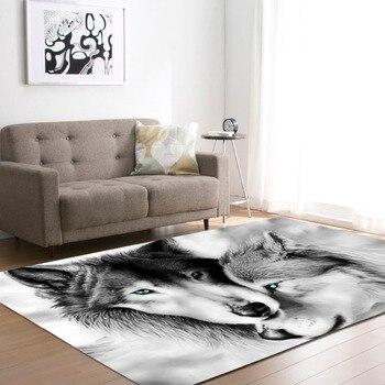 коврики для детской комнаты | Нордические 3D ковры волка коврики для мальчиков украшения спальни мягкие фланелевые коврики для дома коврик для гостиной ковер