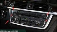 Yimaautotrims Dashboard Konsole Abdeckung Trim 5 Pcs Fit Für BMW 3 4 Serie F30 F32 F34 320 420 2013 2014 innen Chrom