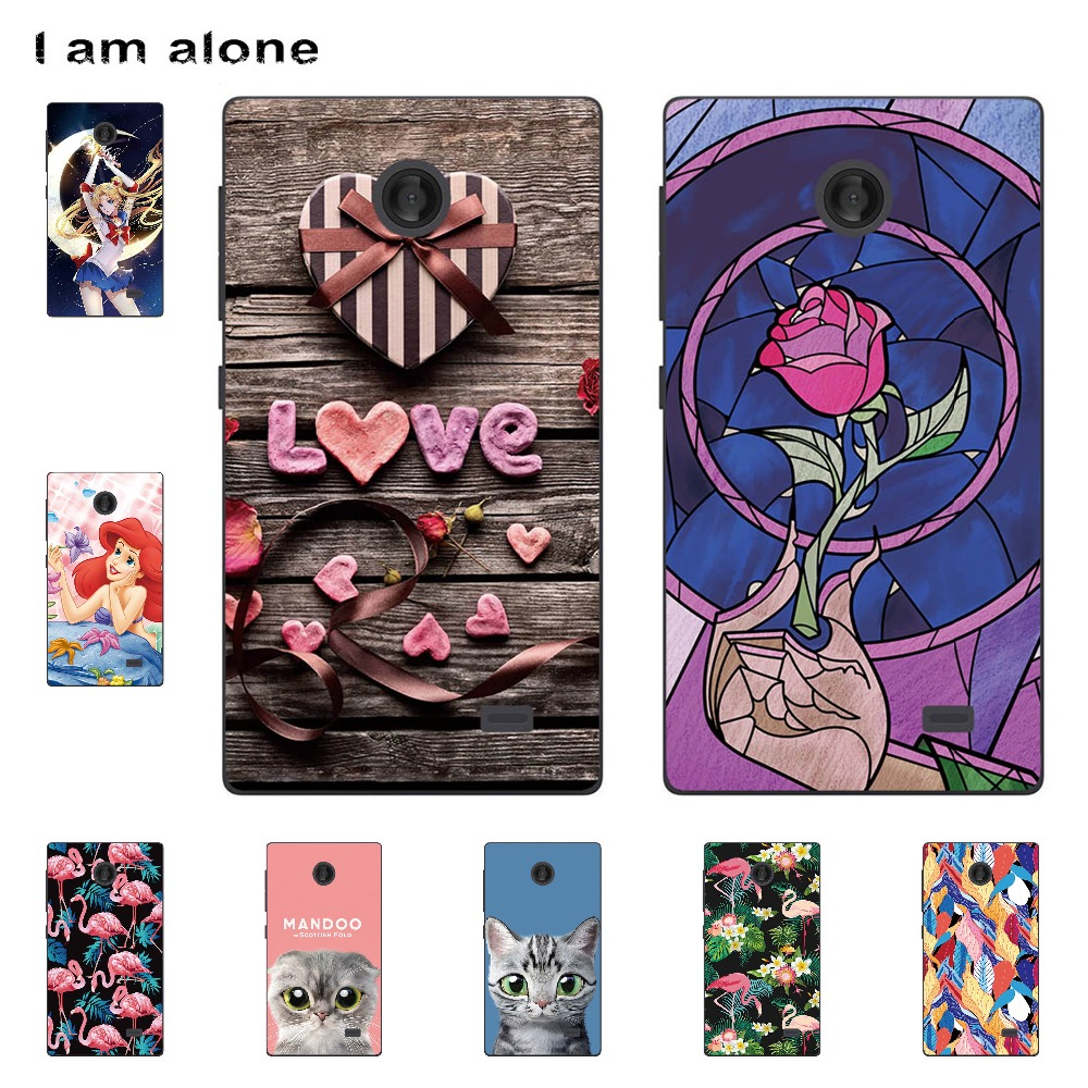 I am alone Phone Cases For Nokia X 1045 <font><b>RM</b></font>-980 X2 <font><b>RM</b></font>-<font><b>1013</b></font> X2DS XL <font><b>RM</b></font>-1030 <font><b>RM</b></font>-1042 Soft TPU Mobile Fashion Bags Free Shipping image