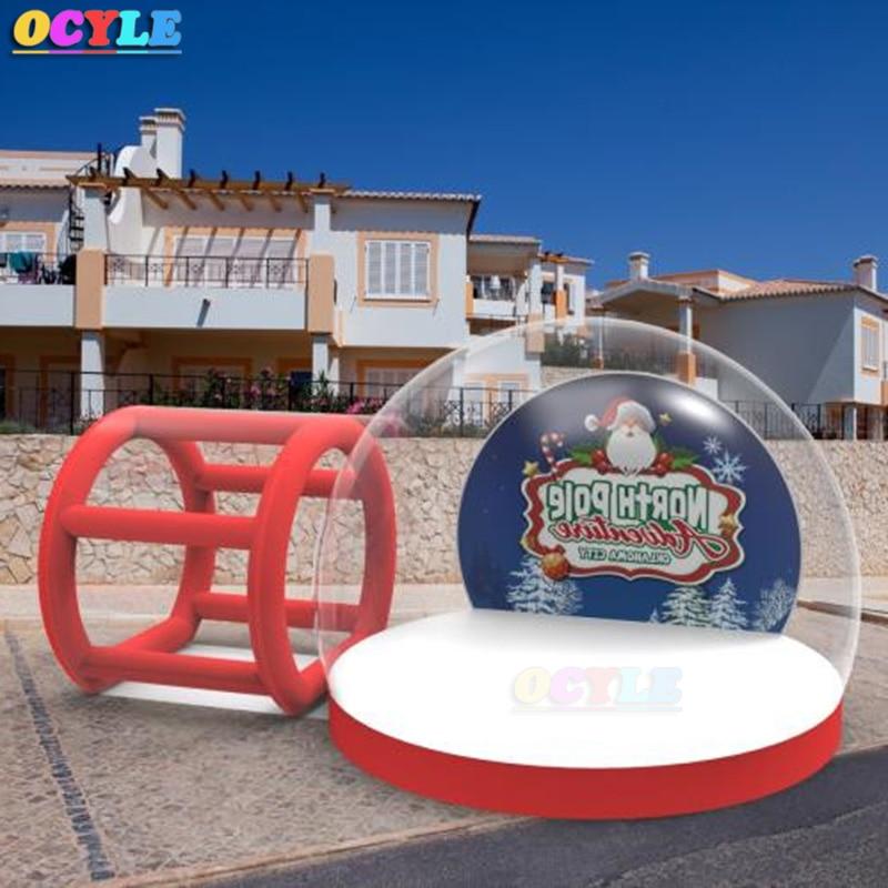 OCYLE gonflable globe de neige, De Noël Transparent bulle tente, Clair Show Room, inflatale photo booth pour la décoration extérieure
