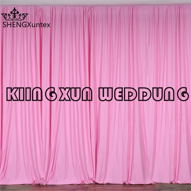 Hot Pink Color 100 Polyester Panel Wedding Backdrop Curtain Satge Background