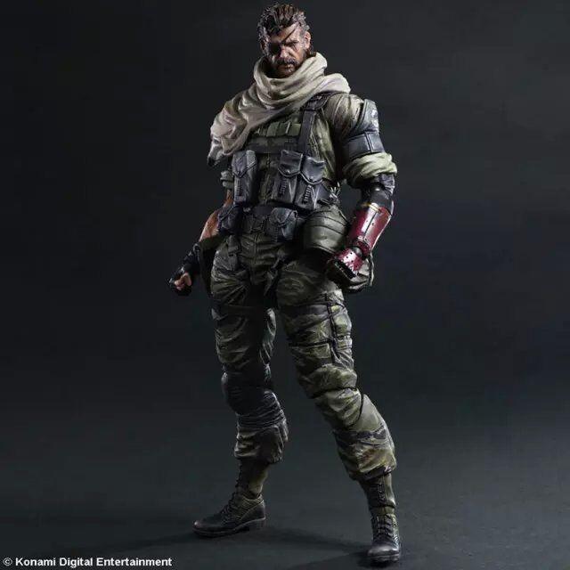PLAY ARTS 33cm Metal Gear Solid V Snake Action Figure Model