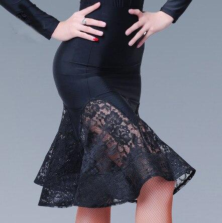 2018 Fashion Knee-high Sexy Latin Dance Skirt For Woman/female/girl/lady, Ballroom Costume Practice Dress Performance Wear