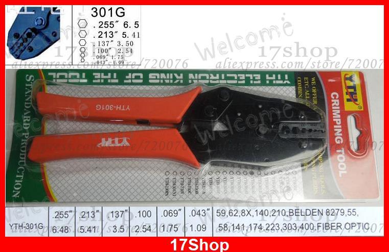 Hex Crimper crimping Pliers for SMA MCX TNC BNC 58 59 6 62 223 210 8279 Cables