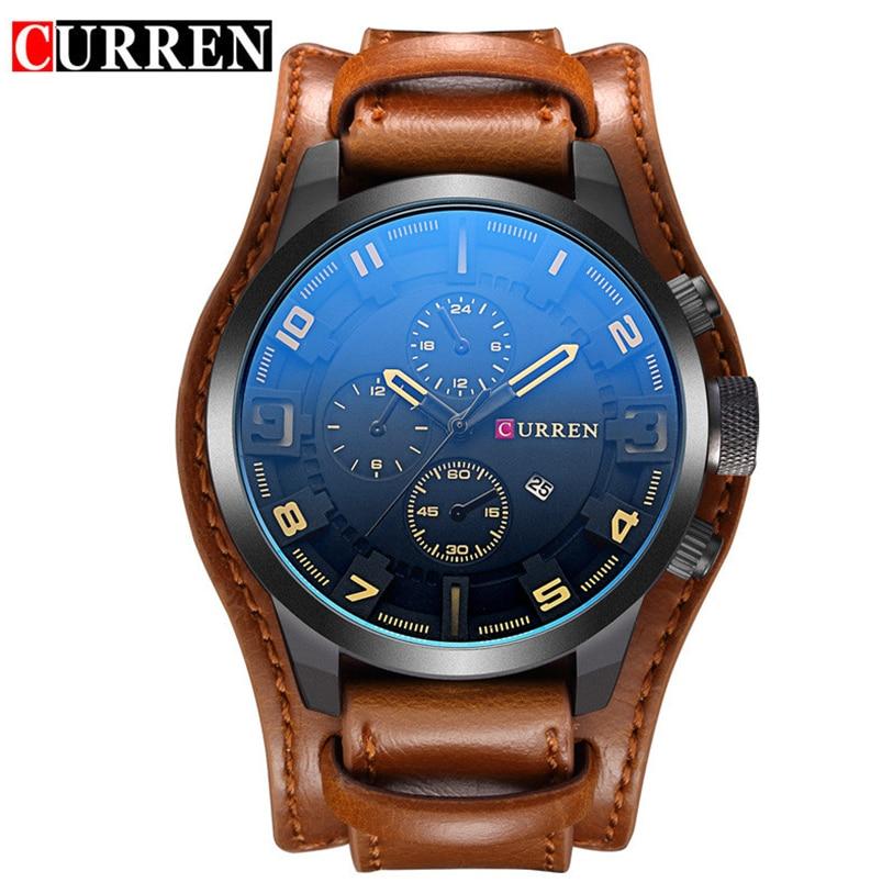 CURREN Mężczyźni Wojskowy Sport Zegarek Kwarcowy Męskie Marki - Męskie zegarki - Zdjęcie 6