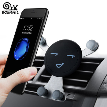 IKSNAIL Car Air Vent Phone Holder Gravity Smartphone GPS Stands Universal Car Mobile Phone Holder Auto Stand For Phone for Car 1