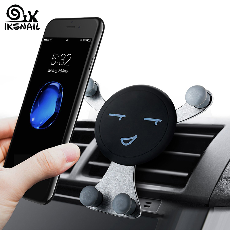 IKSNAIL Car Air Vent Phone Holder Gravity Smartphone GPS Stands Universal Car Mobile Phone Holder Auto Stand For Phone For Car