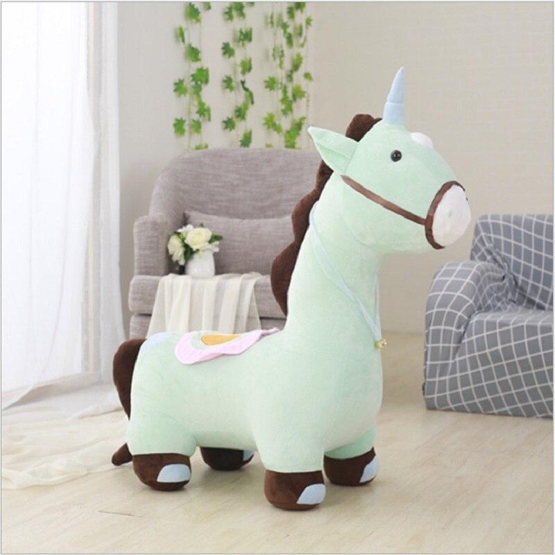 Peluche licorne poupée selle cheval chiffon poupée maumet enfants et filles mignon dessin animé cadeau d'anniversaire