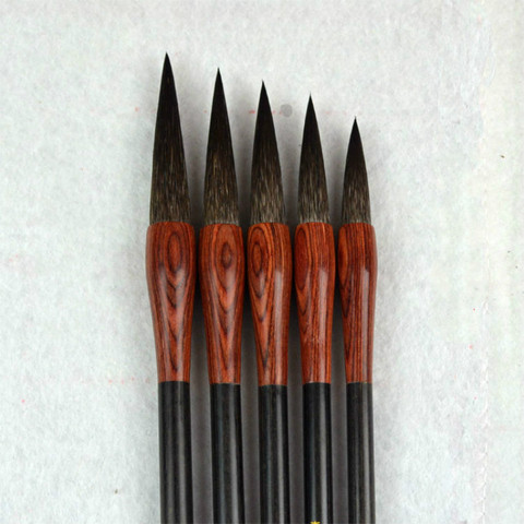 excelente qualidade varios cabelos escovas de caligrafia chinesa pintura de paisagem caligrafia caneta pincel de