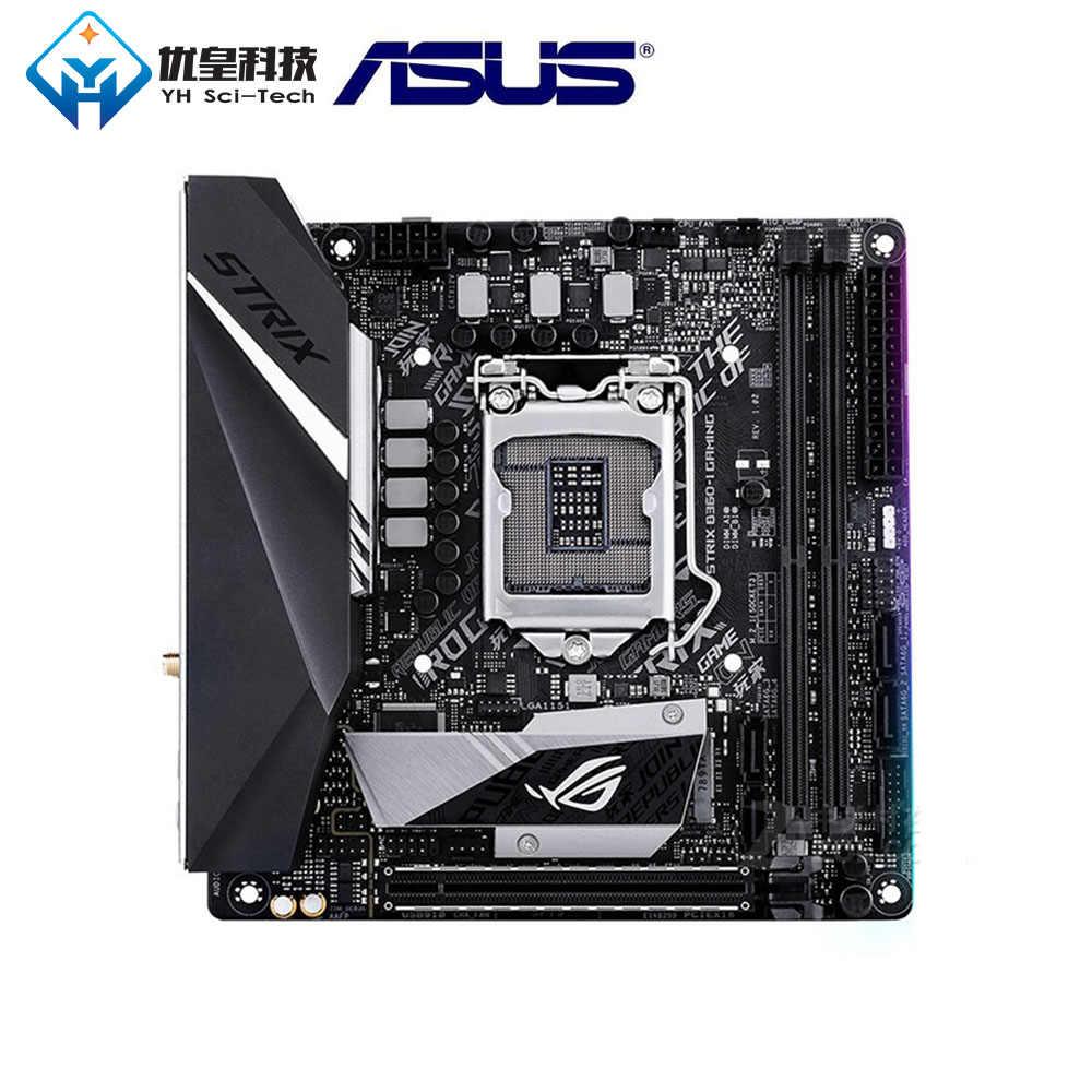 を Asus Rog ストリックス B360-I ゲームインテル B360 中古オリジナルデスクトップマザーボード Lga 1151 コア i7/i5/i3/ ペンティアム/Celeron ミニ ITX