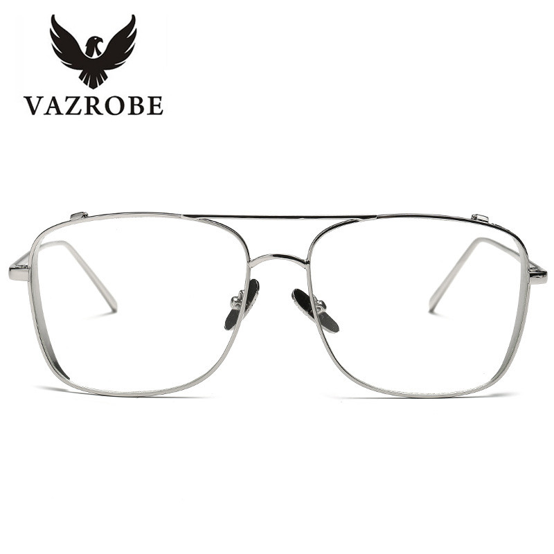 vazrobe customized gold glasses frame mens eyeglasses womens eyeglass frame spectacles female brand clear fashion mens