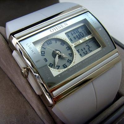 Los wholeslae OHSEN nueva LED de cuarzo analógico Digital del reloj del Mens envío gratuito