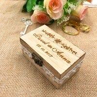 Персонализированные Свадебные кольца коробка, деревянный держатель кольца коробка, Свадебный декор индивидуальные свадебные подарки дере...
