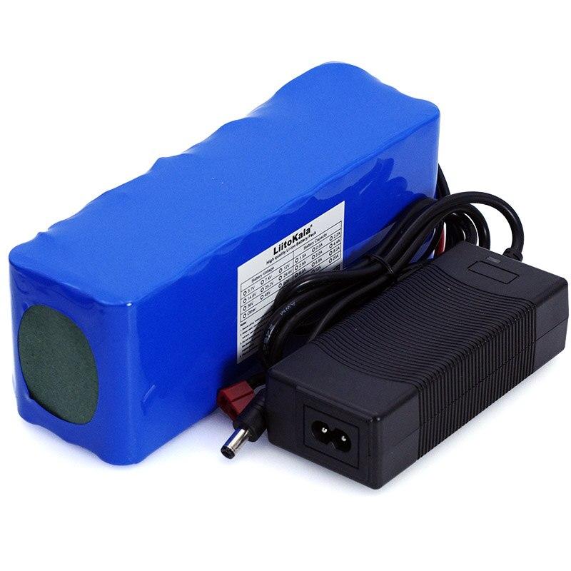 LiitoKala 36 V 10Ah 10S3P 18650 batterie rechargeable, vélo modifié, batterie de voiture électrique + chargeur 2A