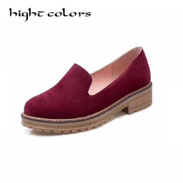British Fashion Heavy-Bottomed Non-Slip Thick Bottom Shoes Women Concise Comfortable Spring And Autumn Shoes For Women Loafers