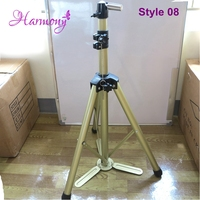 Quality 1 Piece Adjustable Tripod Stand LF 1066 Champagne Gold Aluminium Alloy Hairdressing Training Mannequin Head