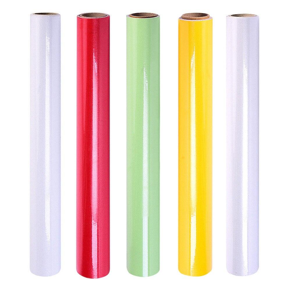 5 Colors PVC Self adhesive Pure Color font b Types b font Wall sticker Wardrobe furniture