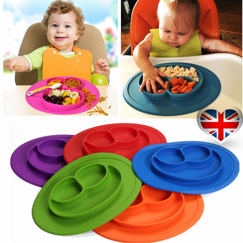 Table Mat Baby Silicone Plate Mat Silicone Suction Tray Non-slip Mini Mat Children Kids  ...