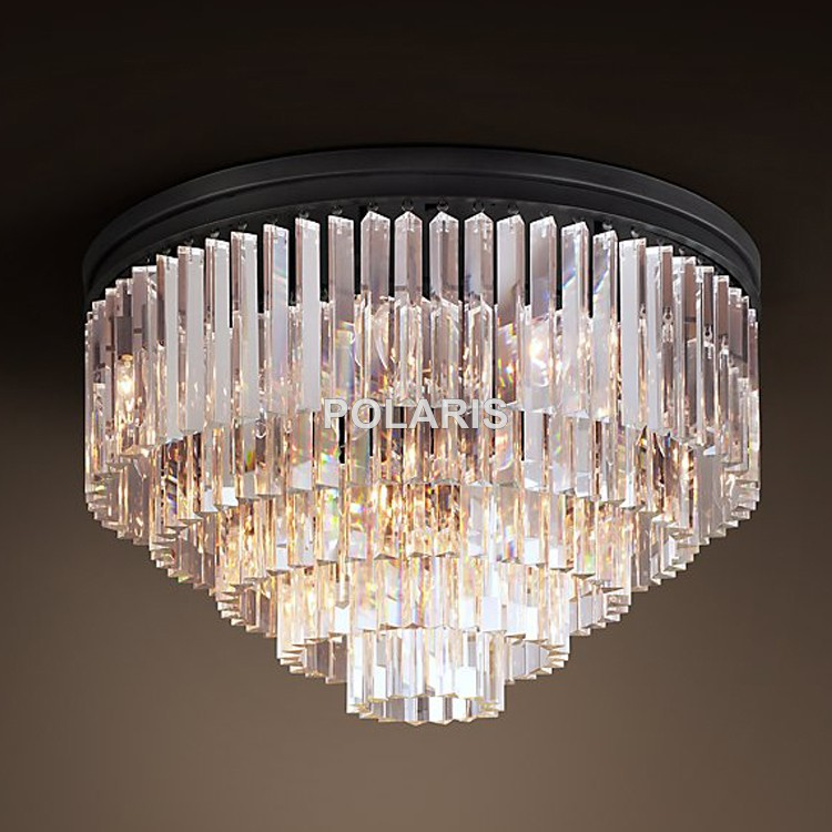 Free shipping modern vintage chandelier crystal flush ceiling free shipping modern vintage chandelier crystal flush ceiling mounted light lamp lighting for home hotel decor aloadofball Gallery