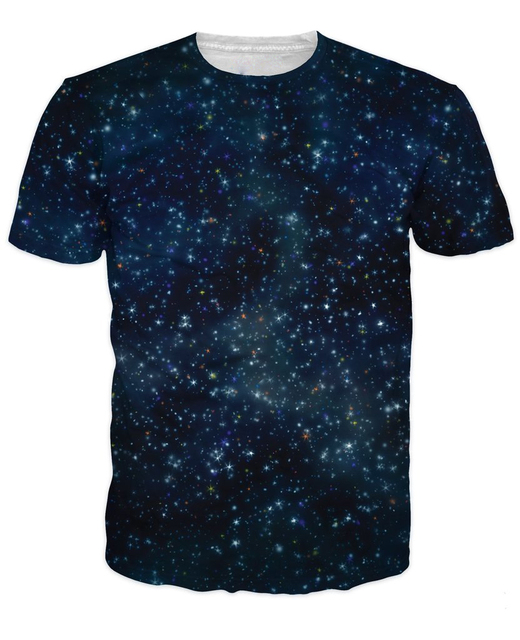af9485b65 Galaxy T-Shirt sexy tee women men 'summer clothing tops Nebula Space 3d  funny