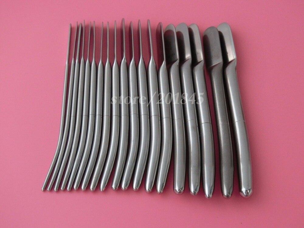 38Pcs/2Kits Dilator Set Dilator Urethral Sounds Urethral Stimulation Diagnostic Surgical Sounds 3.5mm -13mm 38 2