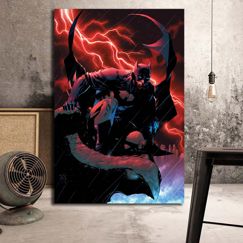 DC Hero Batman Cartoon Canvas Painting Wall Art Poster Print Nordic Kids Decoration Modern Picture Boy Children Bedroom Decor in Painting Calligraphy from Home Garden