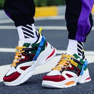 Image 1 - Ayakkabı erkekler 2019 erkek ayakkabı rahat tıknaz moda eğitmenler Tenis Masculino Adulto Chaussure Homme Zapatillas Hombre Deportiva