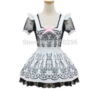 Wholesale Sexy Girls Retro Flowers Princess Maid Costume Dress Halloween Christmas Cosplay Costume Outfit New Free Shipping