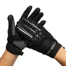 Cycling-Gloves Weight-Lifting Palm-Protection Strong-Grip Training Fitness Long Day-Wolf