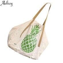 e0175bc867 Aelicy dropshipping new 2019 hot SALE Women Fashion Canvas Pineapple Print Handbag  Shoulder Bags Tote bolsa