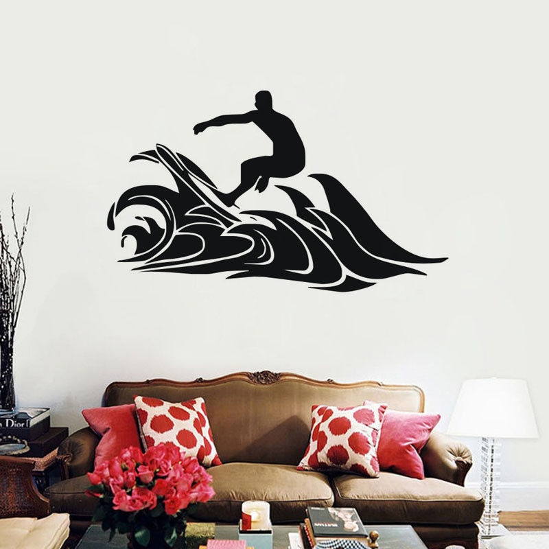 Extreme Surf Sports Wall Stickers Waterproof Home Decor