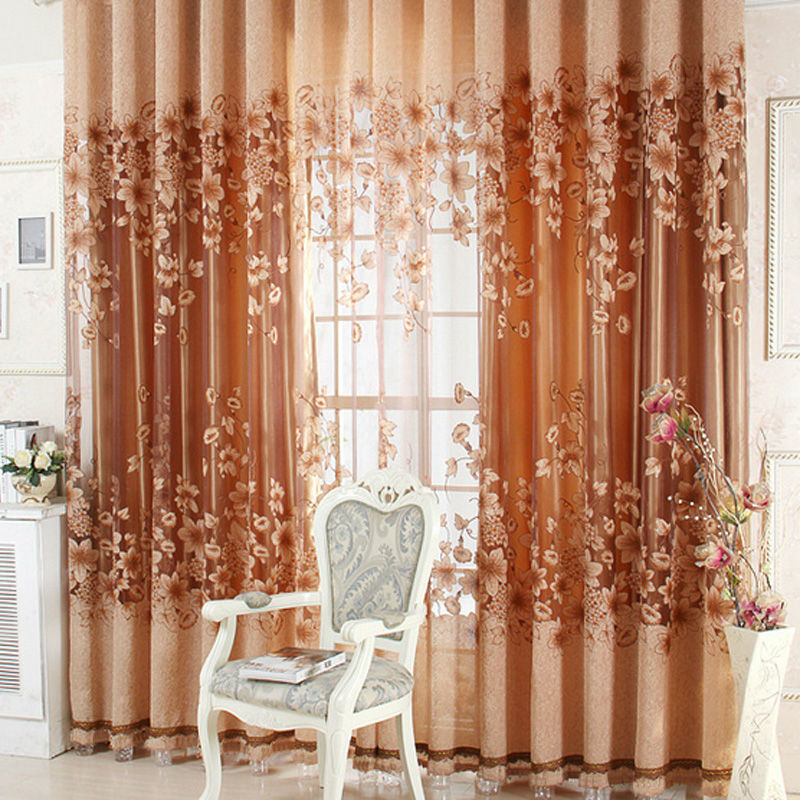 1pcs Luxurious Curtain Upscale Jacquard Yarn Curtains For