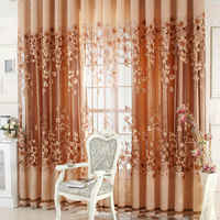 1pcs Luxurious Curtain Upscale Jacquard Yarn Curtains for Living Room Bedroom Decor Tulle Voile Door Window Curtains