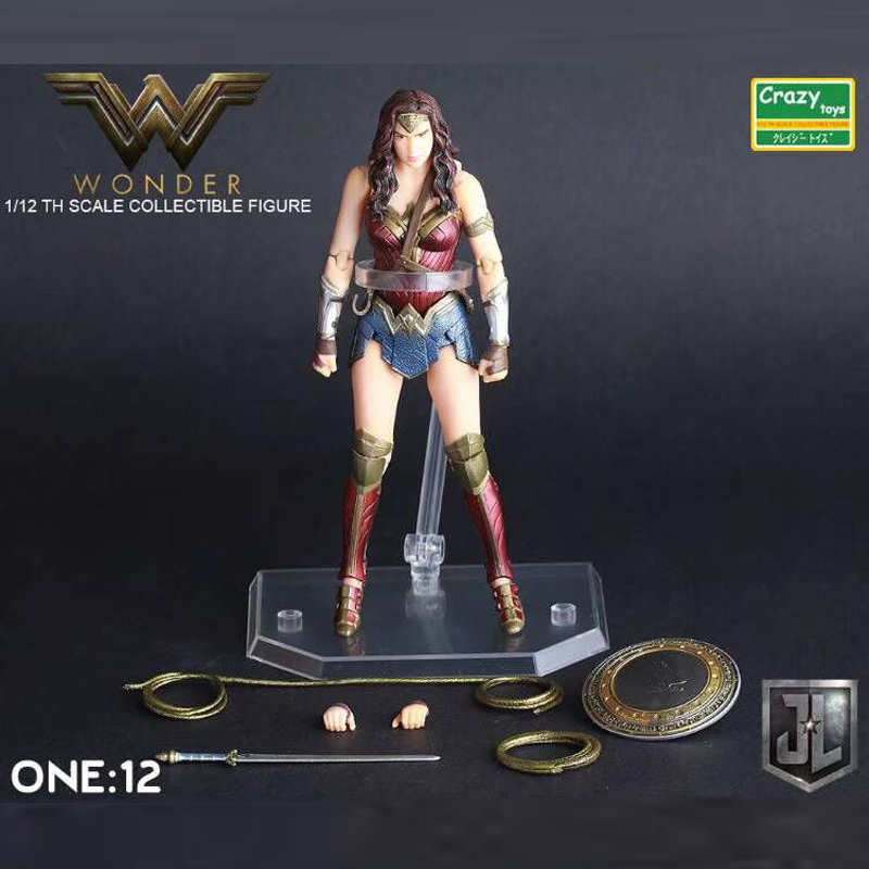 Batman vs Superman Dawn of Justice No.4 Wonder Woman PVC Action Figure Collection Mode Toys 18cm Free Shipping play arts kai no 4 wonder woman action figure dawn of justice pvc toys batman v superman model for kids collection pak001049