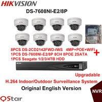 Hikvision Original English Indoor Surveillance System DS 2CD2142FWD IWS 4MP IP WIFI Camera POE 6MP Recording