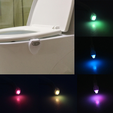 8 Colors USB Rechargeable LED Toilet Light Motion Sensor Activated Bathroom Night Lamps Toilet Bowl Light Creative Night Lights