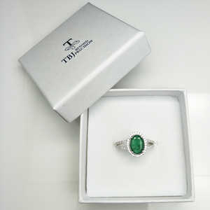 Image 5 - TBJ, 100% Emerald แหวน 925 เงินสเตอร์ลิงของขวัญกล่อง,elegant dianna แหวนมรกตธรรมชาติอัญมณีแหวน